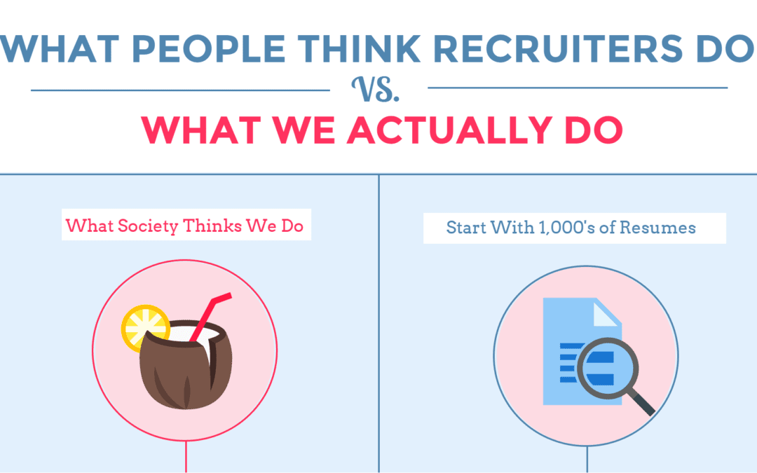 What People Think Recruiters Do Vs. What We Actually Do