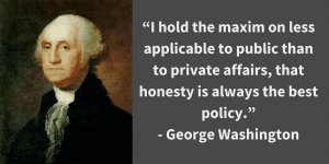 president quote by george washington with his picture