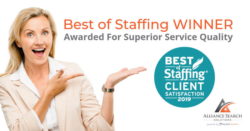 Alliance Search Solutions Receives 2019 Best of Staffing