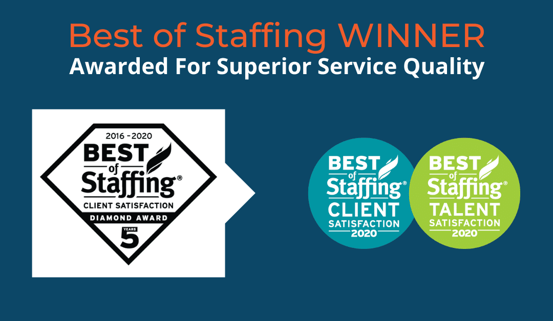 Alliance Search Solutions Wins ClearlyRated's 2020 Best of Staffing Client Diamond Award for Service Excellence